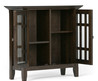 Simpli Home Bedford Low Storage Media Cabinet & Reviews
