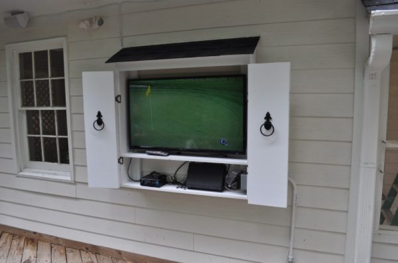Outdoor Tv Cabinets With Doors, Barn Door Style Outdoor Tv Cabinets With Regard To Outdoor Tv Cabinet Outdoor Tv Cabinets Protecting Your Tv