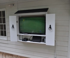 Barn Door Style Outdoor Tv Cabinets With Regard To Outdoor Tv Cabinet Outdoor Tv Cabinets Protecting Your Tv