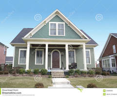 Green Cape Cod Style House Stock Photo