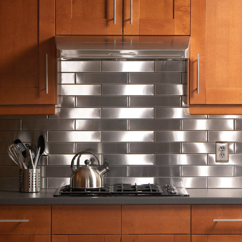 Stainlees Steel Backsplash, Top 20 Diy Kitchen Backsplash Ideas