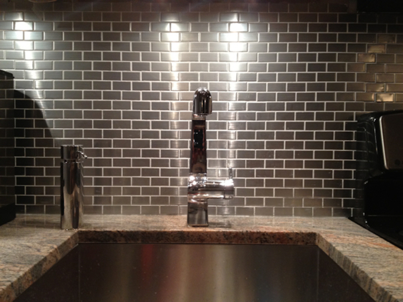 Stainlees Steel Backsplash, Stainless Steel Backsplash