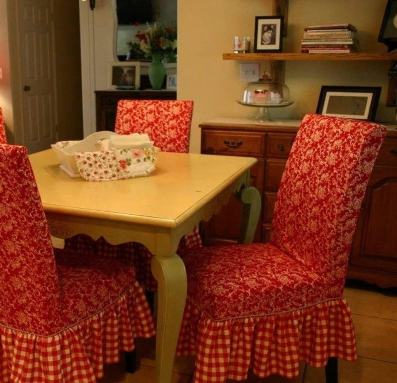 Red Slipcover For Parsons Chair, Decorative Chair Slipcover Ideas
