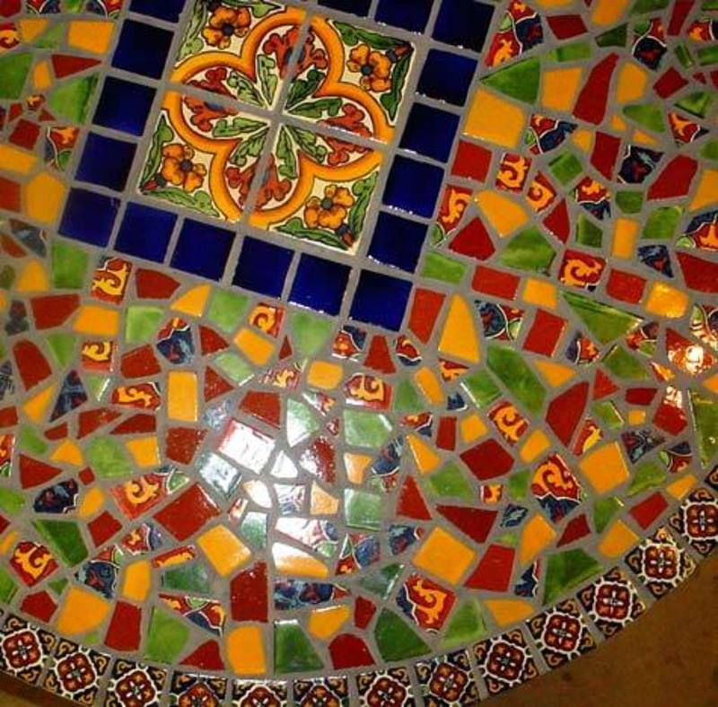 Mosaic Tile Table Top Pattern, 1000+ Images About Mosaic Tables On Pinterest