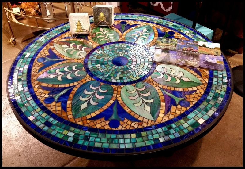 Mosaic Tile Table Top Pattern, Tile And Glass Mosaic Tables