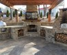 Outdoor Fireplace Stone Plans. Patio With. . Flagstone Patio With Stone Fireplace And Outdoor Kitchen Outdoor. Wonderful Dark Brown Wood Simple Design Outdoor Living Backyard. How To Build A Wood Burning Brick Outdoor Fireplace Hirerush Blog. Home Design