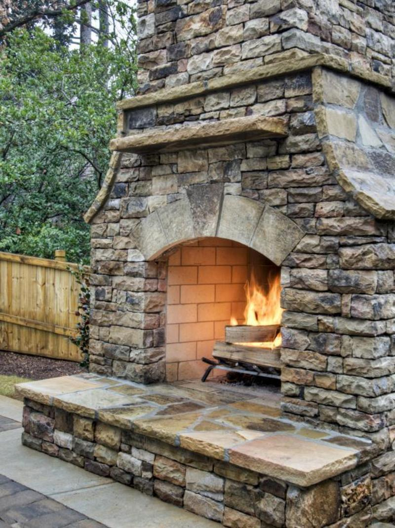 Outside Fireplace Plans, 12 Outdoor Fireplace Plans