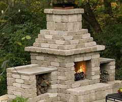 Cinder Block Outdoor Fireplace Plans