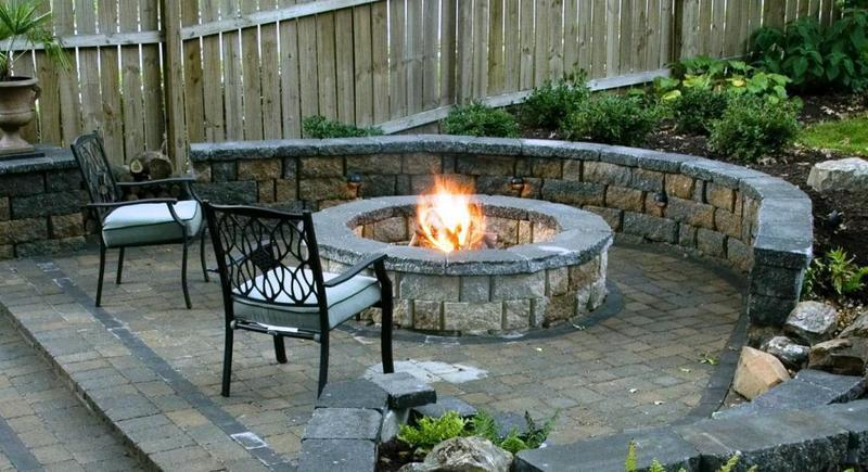 Outside Fireplace Plans, Natural Outdoor Fireplace Plans