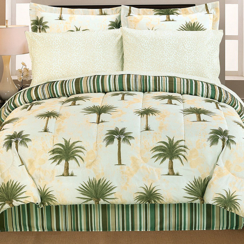 Tree King Comforter Sets, Tropical California King Comforter Sets, King Sized, Tropical Bedding Sets