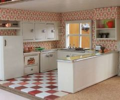 A Vintage + Custom Kitchen For The Betsy Mc Call Dollhouse