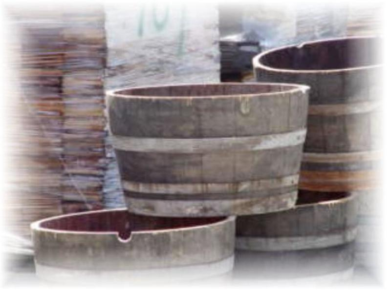 Half Wine Barrels For Sale, Half Wine Barrel