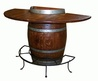 Half Wine Barrel Bar Table