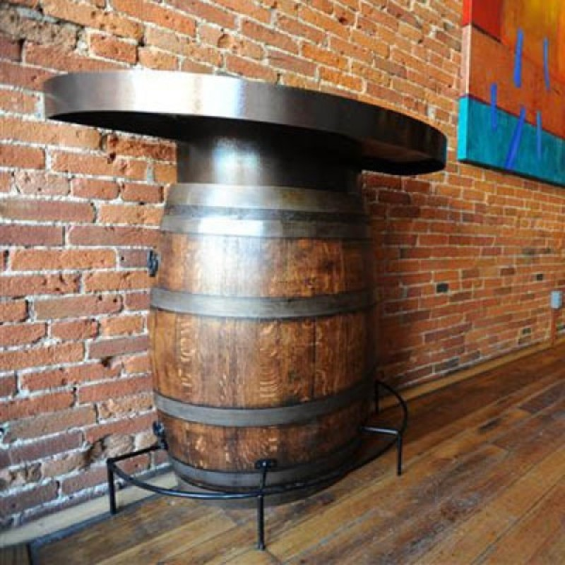 Half Wine Barrels For Sale, The Oak Barrel Company Half Wine Barrel Bistro Table