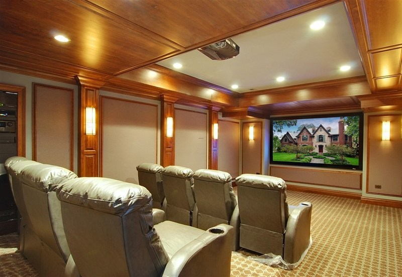 Media Room, Photos Of Luxury Home Media Rooms And Home Theaters By Heritage Luxury Builders