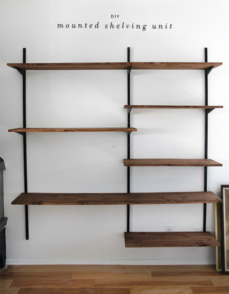 Wall Mounting Shelves, Diy Mounted Shelving