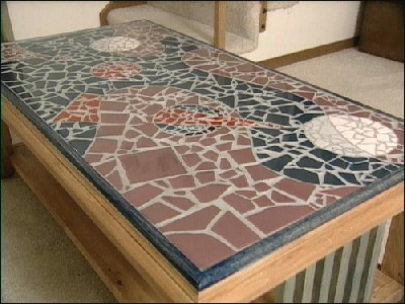 Table Top Designs, How To Make A Mosaic Tile Table Design