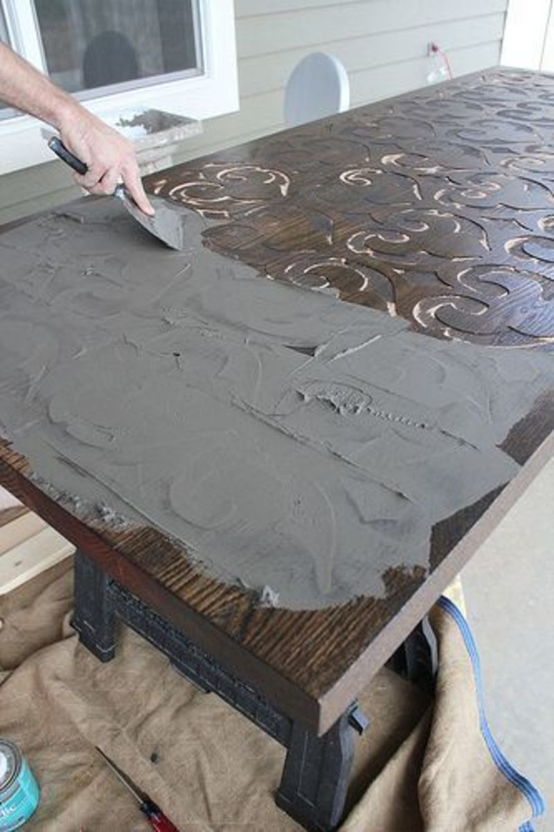 Table Top Designs, Custom Wood And Concrete Table Top By Kara Paslay Designs
