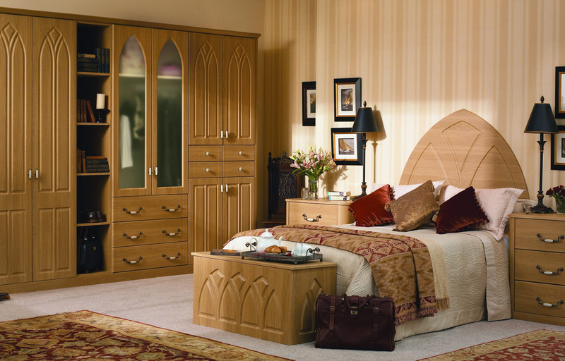 Bed Models Wood With Caboard, Bedroom