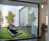Garden With Modern Glazed Home Interior Designs