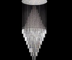 """New ! Modern Contemporary Chandelier """"Rain Drop"""" Chandeliers H 100"""" W 41"""" (Over 8ft Tall!)"""