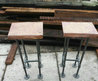 Reclaimed Wood Bar Stool With Industrial Pipe Legs  Rustic