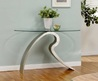 Console Table Design. Modern Wood And Glass Console Table