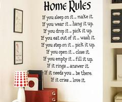 Home Rules Wall Sticker Quotes Home Decor Vinyl Art Decals Sticker Home Decoration Waterproof Wallpaper Painting Bedroom Wall Wall Sticker Decor Wall Sticker Decoration From Lilistar, $8.79
