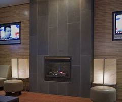 17 Best Ideas About Tiled Fireplace On Pinterest