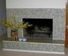 Mosaic Glass Tile Fireplace Surround