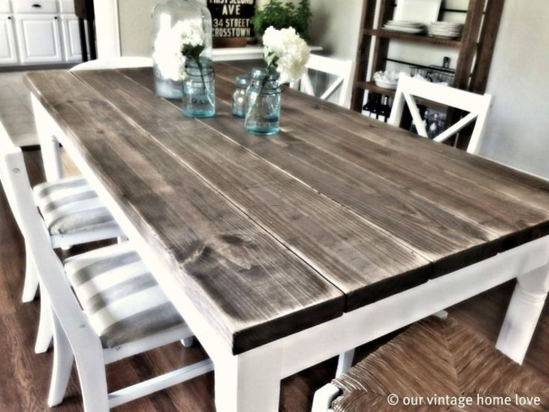 Farmhouse Table And Chairs, 17 Best Ideas About Distressed Kitchen Tables On Pinterest