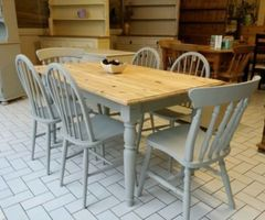 Shabby Chic Farmhouse Tables Collection On E Bay!