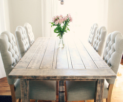Incredible Decoration Farmhouse Dining Table And Chairs Super Idea 1000 Images About Farmhouse Tables With Mismatch On