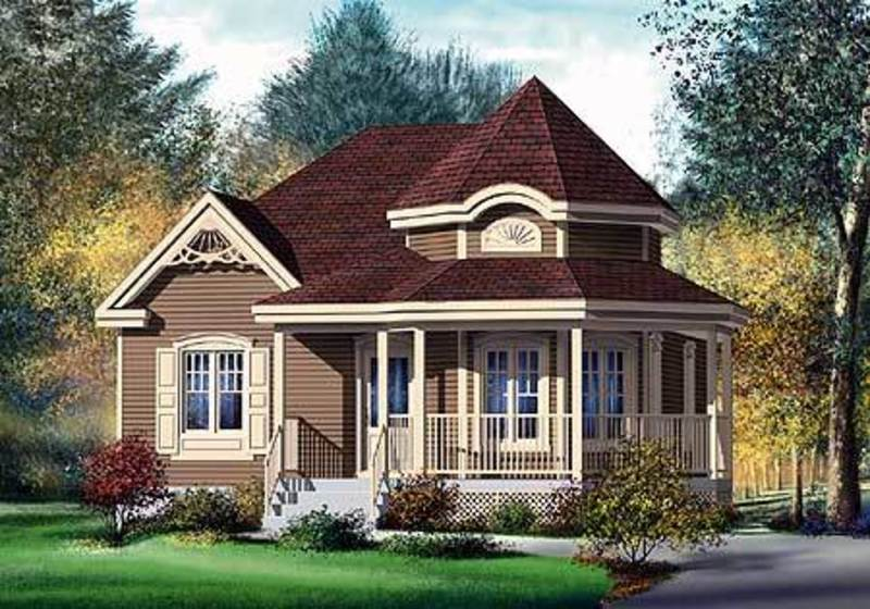 Country Style Home Plans, Plan W80377 Pm