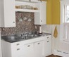 Small Kitchen Remodel, Featuring Slate Tile Backsplash