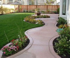 Landscape, Island Front Yard For Cheap Landscaping Ideas For Small Yards