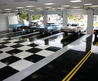 Black & White, And Street Stripes....Classic Car Collector Garage Floor