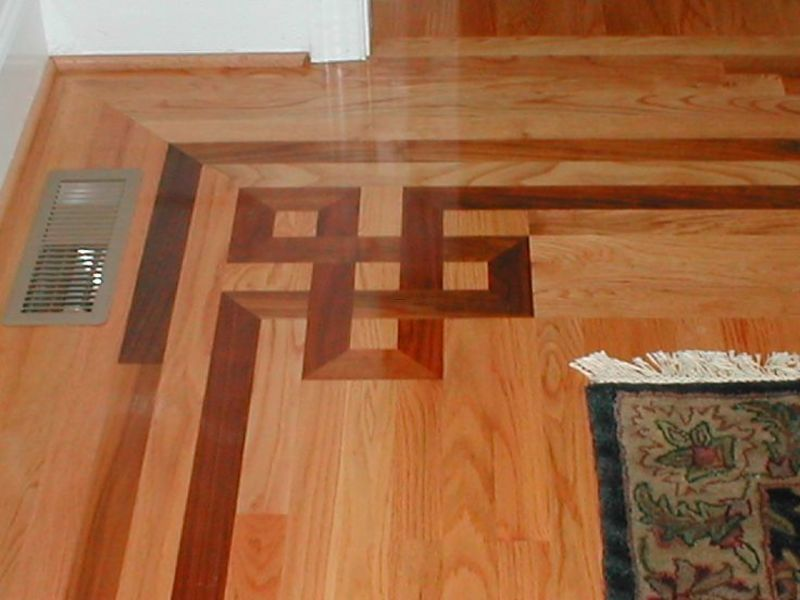 Making A Pattern On A Wooden Floor, Hardwood Floor Pattern  Greek Revival House