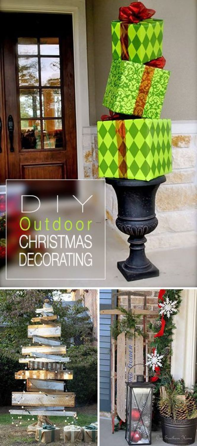 Ideas Outdoor Xmas Decorations, 25+ Best Ideas About Outdoor Christmas On Pinterest
