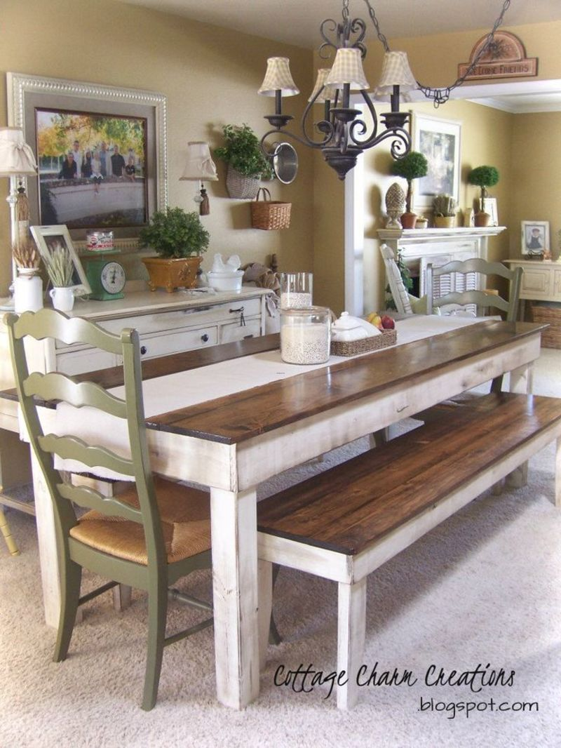 Farmhouse Table And Chairs, 25+ Best Ideas About Rustic Farm Table On Pinterest