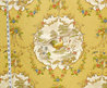 Yellow Rooster Fabric French Country Chicken Toile Interior Home Decorating Material Cotton  Traditional Decor1 Yard From Brick House Fabrics On Etsy Studio