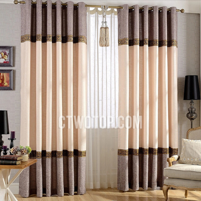 Living Room Window Curtains, High End Elegant Living Room Designer Window Curtains