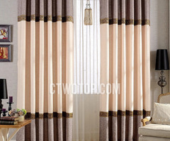 High End Elegant Living Room Designer Window Curtains
