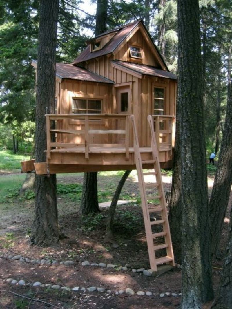 Kids Tree House, 25+ Best Ideas About Treehouses For Kids On Pinterest