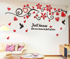 Online Get Cheap Bird Mirror Wall Decals