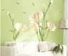 Diy Home Decor Art Vinyl Removable Large Wall Stickers White Lily Mural Flower