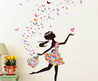 Find More Wall Stickers Information About Butterfly Dance Girl Flower Vinyl Wall Sticker Diy Girl Home Decoration Art Decal Poster Stickers For Wal…