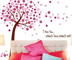 Online Get Cheap Cherry Blossom Wall Art Stickers