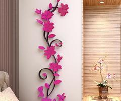 3d Diy Removable Romantic Rose Flower Acrylic Crystal Wall Sticker Home Decor Decal Room Vinyl Art Mural Wall Sticks Wall Tattoos From Huanglina030, $6.89