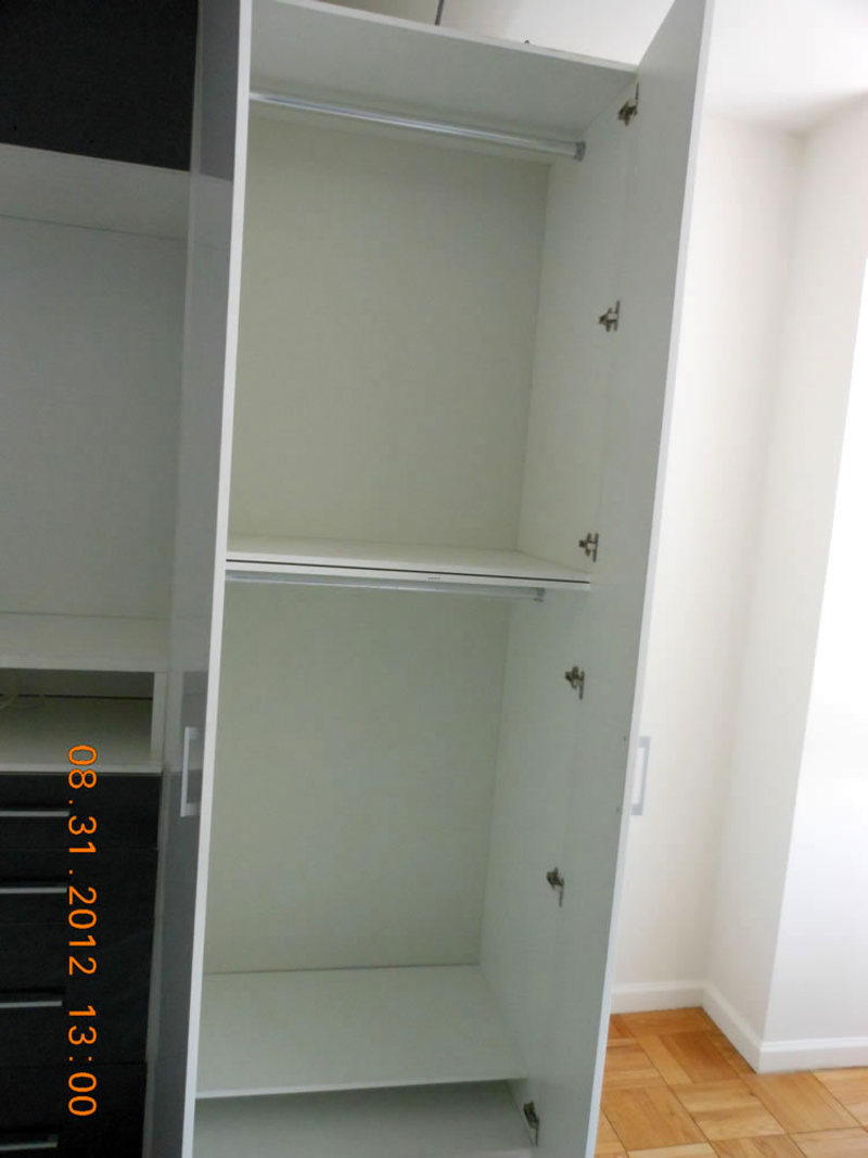 White Wardrobe Closet, Wardrobe Cabinets In White & Dark Grey Glass
